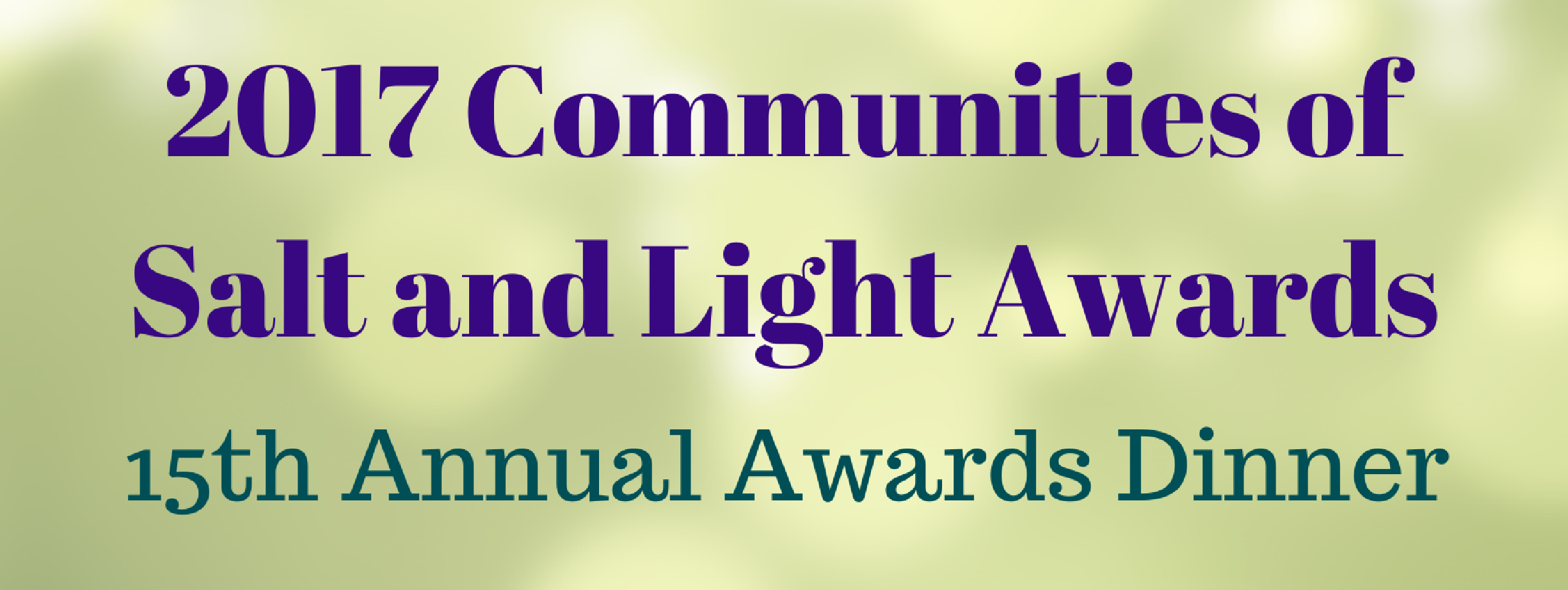 15th Annual Communities of Salt and Light Awards Dinner